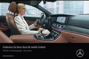 Broschüre Mercedes-Benz Fahrhilfen ab Werk, Burkhardt Hellwig Fotograf Stuttgart